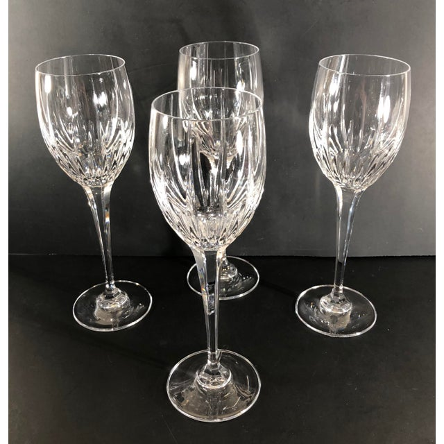 Contemporary Mikasa Arctic Lights Imperial Cut Crystal Goblets - Set of 4 For Sale - Image 3 of 11