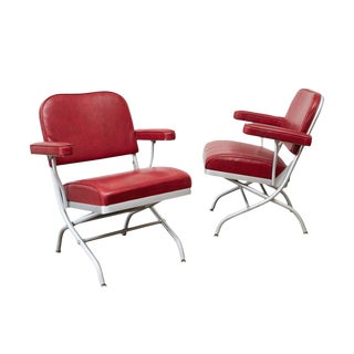 Warren McArthur Folding Armchairs - A Pair For Sale
