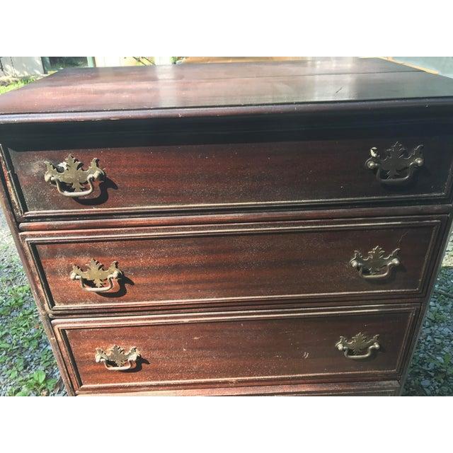 Ribbon Mahogany Colonial Secretary Dresser - Image 5 of 7
