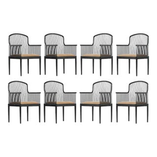 """Tan Davis Allen """"Andover"""" Chairs for Stendig - Set of 8 For Sale"""