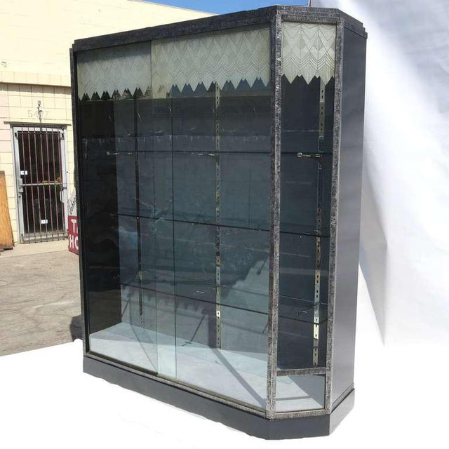 Art Deco Showcase With Lalique Glass Doors For Sale - Image 10 of 11