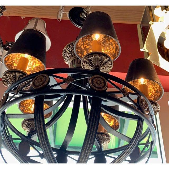 2000 - 2009 Fine Art Lighting Chandelier Bronze & Gold 5 Lights For Sale - Image 5 of 13