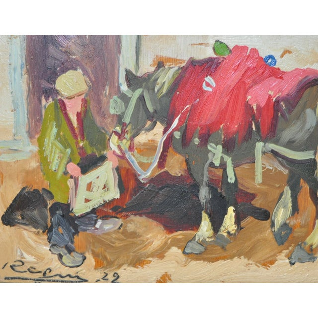 Impressionist Italian Oil Painting C.1922 - Image 3 of 5