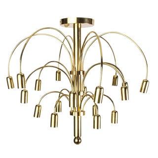 Italian Brass Cascade Chandelier For Sale