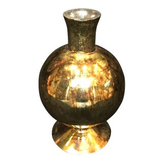 Nile Contemporary Mercury Glass Bud Vase For Sale