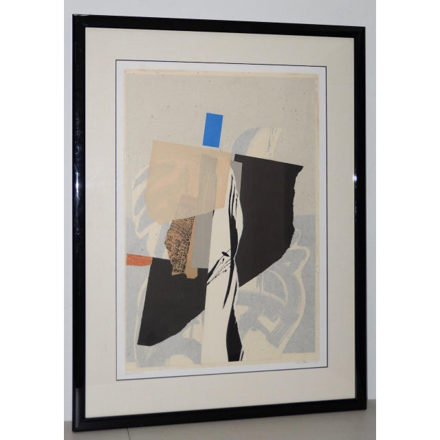 Late 20th Century Mixed Media Abstract on Paper by H. Munson C.1986 For Sale - Image 11 of 11