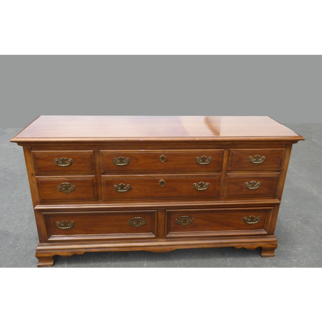 Vintage 1963 Kent Coffey French Provincial Cherry & Pecan Eight Drawer Dresser 1963 For Sale - Image 13 of 13