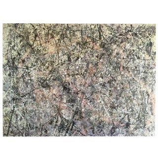 "Jackson Pollock Foundation Abstract Expressionist Collector's Lithograph Print "" Lavender Mist : No. 1 "" 1950 For Sale"