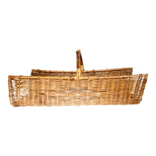 Wicker Gathering Basket For Sale