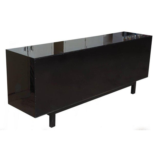 Vintage Lacquered, Gold Leaf and Brass Cabinet/ Buffet For Sale - Image 10 of 11