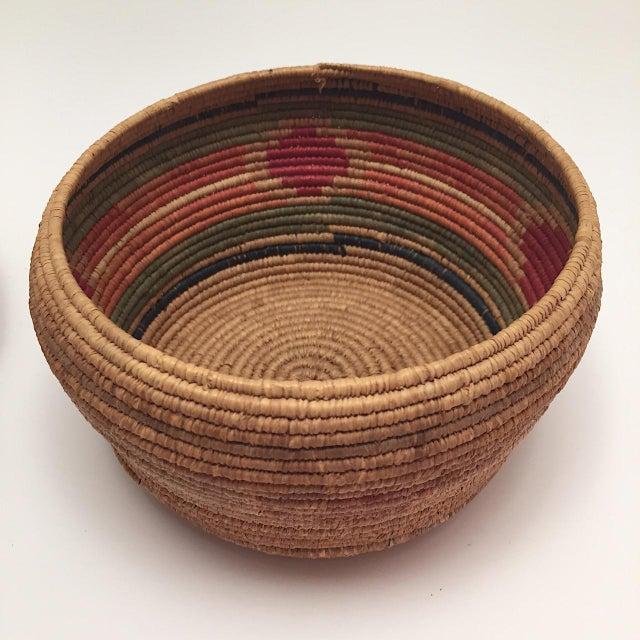 Native American Art Northwest Coast Salish Lidded Coiled Basket For Sale - Image 4 of 13
