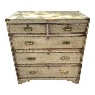 19th Century Bleached English Campaign Chest For Sale