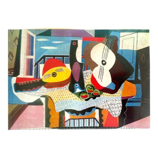 "Pablo Picasso Rare Vintage 1964 Lithograph Print "" Mandolin and Guitar "" 1924 For Sale"