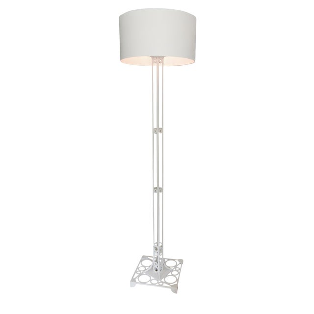White Aluminum Floor Lamp For Sale