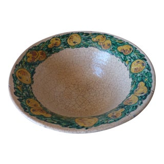 Italian Majolica Fruit Bowl For Sale