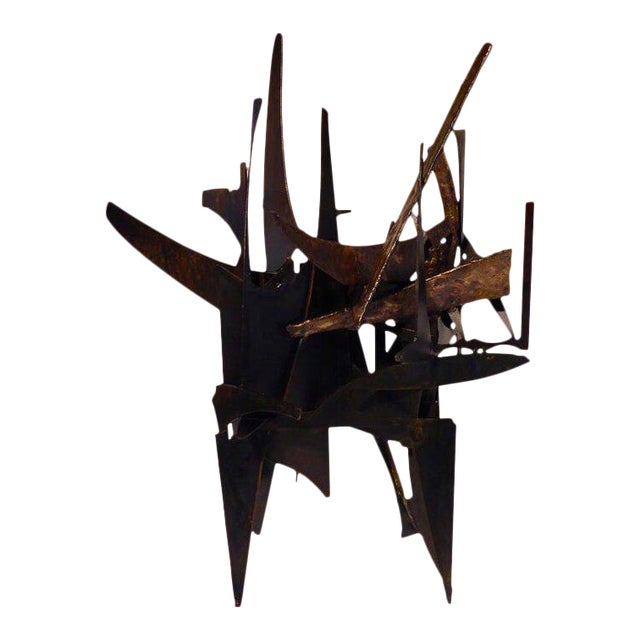 """""""Four Corners"""" an Original Contemporary Steel and Bronze Sculpture by American Artist Joey Vaiasuso For Sale"""