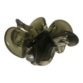 Olive Green Murano Bowl For Sale
