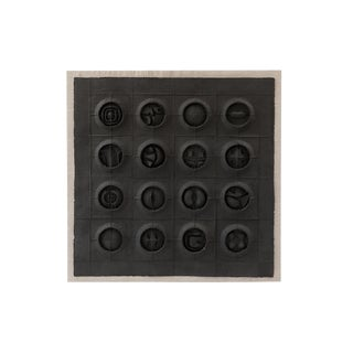 "Cheung Yee ""Magic Square"" Cast Paper Wall Hanging For Sale"
