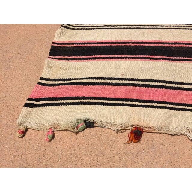 Islamic Vintage Moroccan Flat-Weave Stripe Tribal Rug For Sale - Image 3 of 10