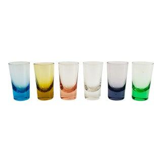Vintage Rainbow Shot Glasses - Set of 6 For Sale