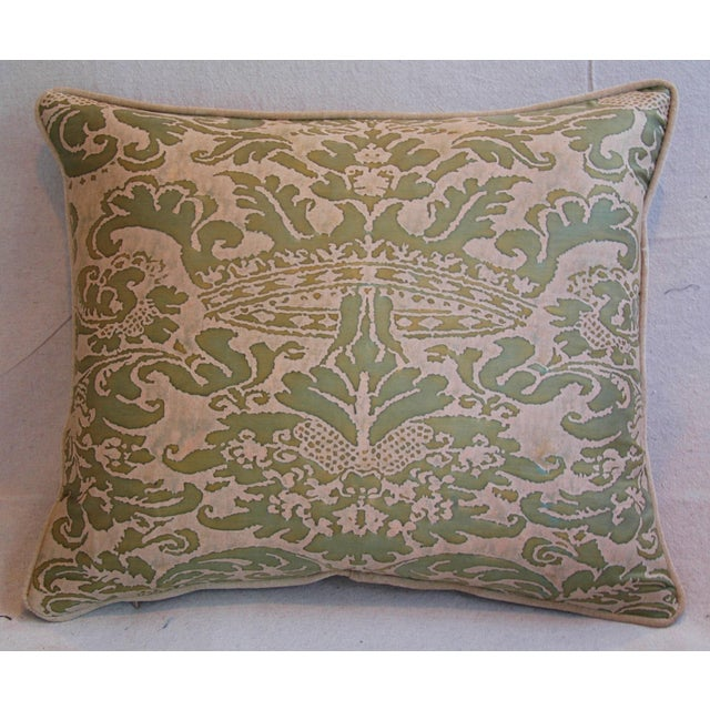 Italian Fortuny Corone Crown Down Pillows - A Pair - Image 5 of 11