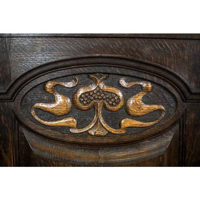 Wood 1910 Art Nouveau Oak Commode or Sideboard For Sale - Image 7 of 13