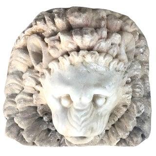 17th Century Late Renaissance Lion Marble Mask For Sale