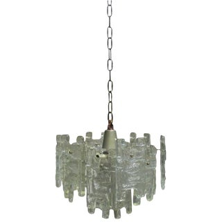 "Vintage ""H"" Shape Murano Glass Mazzega Chandelier by Carlo Nason For Sale"