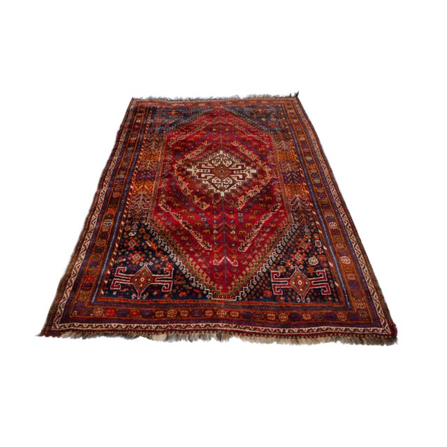 "Vintage Persian Shiraz Rug Aram - 5'1""x8'6"" - Image 2 of 5"