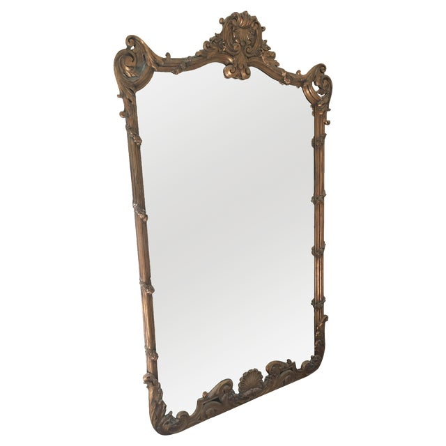 Gold Chinoiserie Full Length Mirror - Image 1 of 5