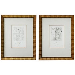 Etchings by Peter Max V3 X and XI - a Pair