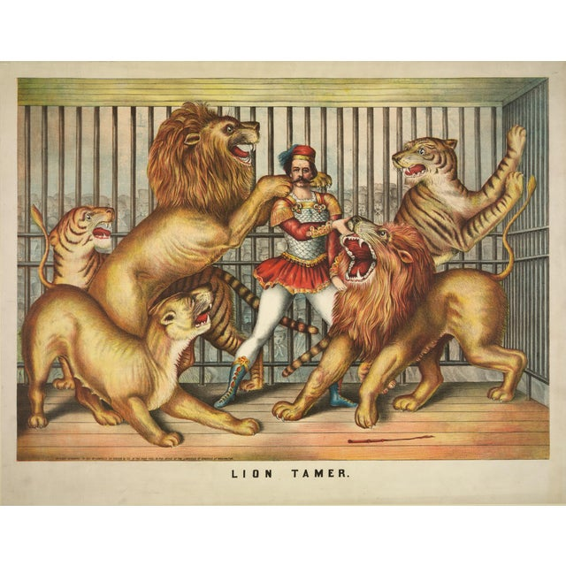 19th-C. The Lion Tamer Circus Print - Image 1 of 3