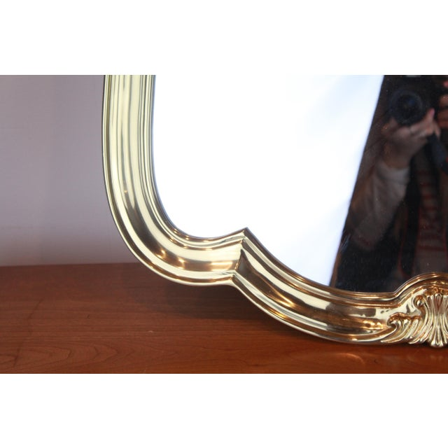Late 20th Century Italian Brass Wall Mirror For Sale - Image 5 of 13