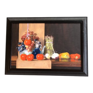 """Original Vintage Large Still Life Painting Ed Behm """"One Hung High""""Woodmere Art Show For Sale"""