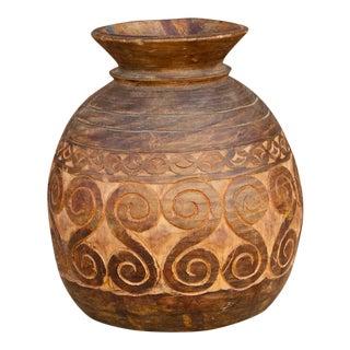 Geometric Naga Tribal Water Pot For Sale