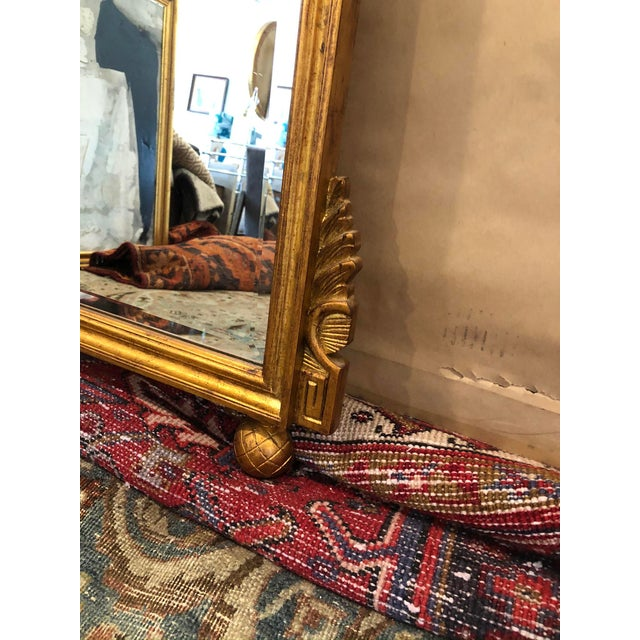 Early 20th Century Antique French Gold Leaf Wall Mirror For Sale - Image 5 of 7