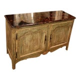 Image of Minton Spidell Paint Decorated French Country Cabinet Credenza Buffet For Sale