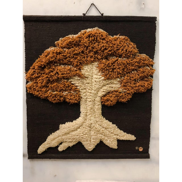 Boho Chic Don Freedman Macrame Wall Hanging of a Tree For Sale - Image 3 of 6