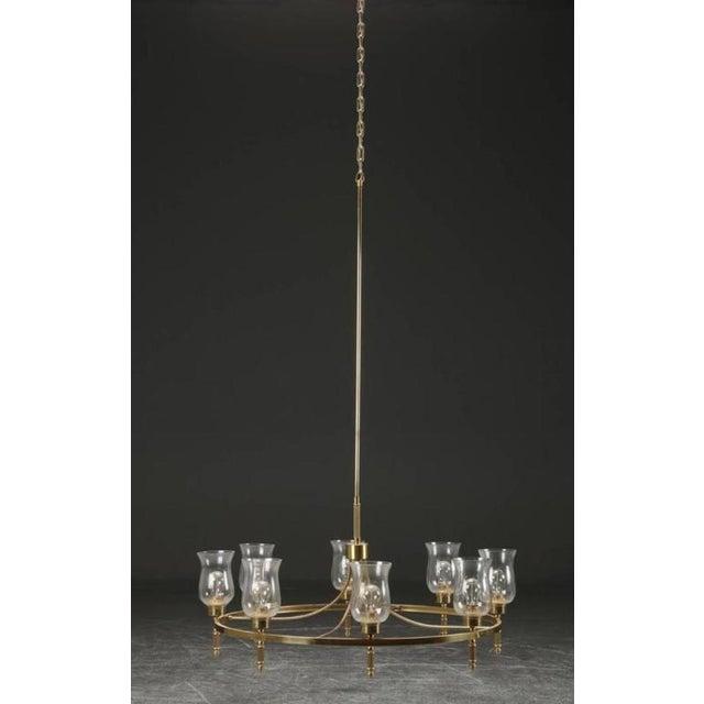 1960s Large Brass Chandelier by Svend Mejlstrøm, 1960s For Sale - Image 5 of 10