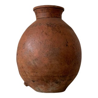 17th Century Spanish Red Terracotta Vessel, Vase, Planter With Low Tap For Sale