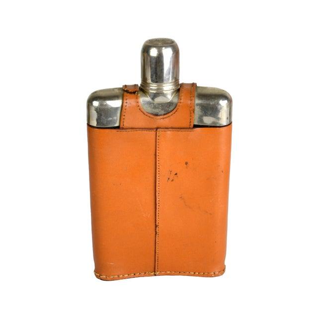 Vintage Leather Wrap Liquor Flask - Image 2 of 3