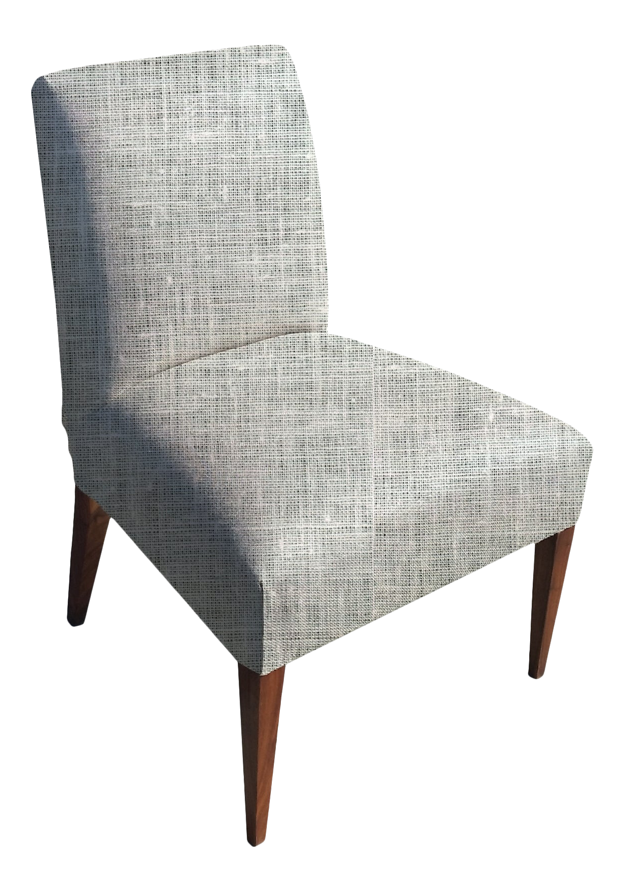 Picture of: Seat Mish Slipper Chair In Bleached White Linen Chairish