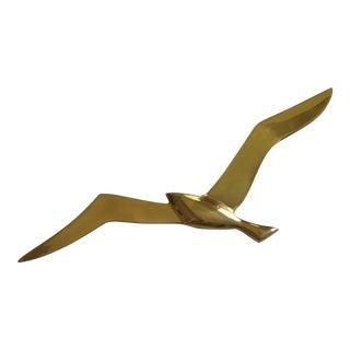 Mid-Century Brass Bird Art