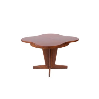 Henry Glass Walnut Extendable Dining Table For Sale