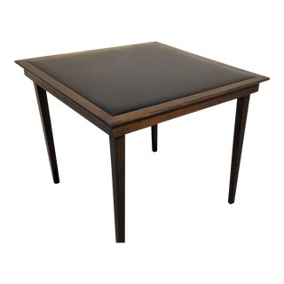 1960s Danish Modern Folding Card Game Table For Sale
