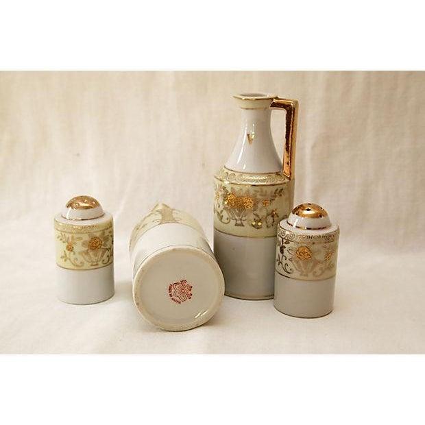Art Deco Art Deco Cruets & Salt and Pepper Shakers - 4 Pieces For Sale - Image 3 of 3