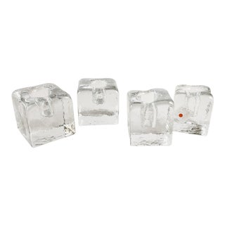 Blenko Mid Century Modernist Cube Candle Holders - Set of 4 For Sale