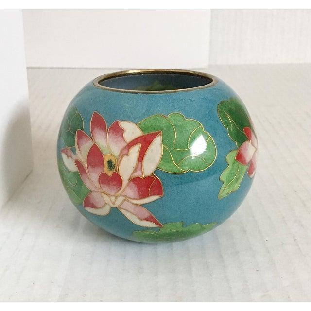 Plique Jour Glass Water Lily Vase Chairish