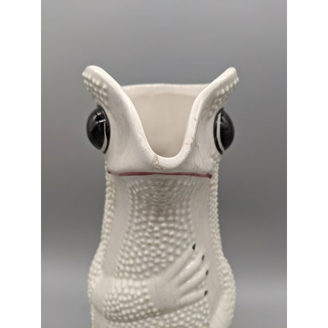 Mid-Century Italian White Hobnail Frog Pitcher For Sale - Image 10 of 13