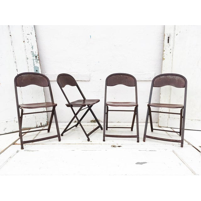 1950's Metal Folding Chairs - Set of 4 - Image 2 of 5